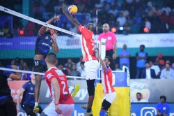 Pro Volleyball League Calicut Heroes Defeat Ahmedabad Defenders Remain Unbeaten League Stage
