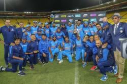 Kedar Jadhav Team India Celebrate Historic Odi Series Win In S