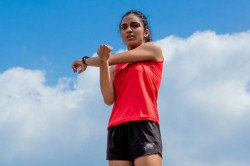 Two Female Athletes From India Compete At Los Angeles Marath