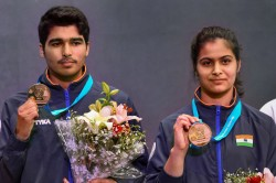 Issf World Cup Saurabh Manu Shoot Mixed Pistol Gold Divyansh Elavenil Claim Mixed Air Rifle Gold