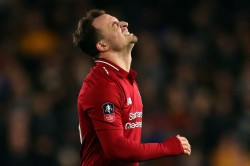 Liverpool Xherdan Shaqiri Groin Injury Switzerland