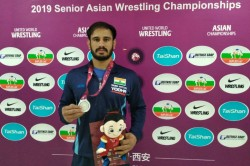 Asian Wrestling Championships Harpreet Singh Wins Silver Gyanendra Clinches Bronze