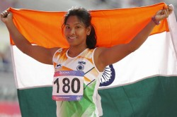 Swapna Barman Settles For Silver In Heptathlon Jinson Pulls Out Of 1500m