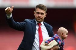 Aaron Ramsey Very Emotional Arsenal Farewell