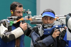 Apurvi Chandela Clinches Year S Second Women S 10m Air Rifle World Cup Gold