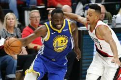 Nba Playoffs 2019 Warriors Use Dominant Second Half Performance To Drop Portland