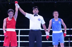 Boxing Mary Kom Shiva Thapa Dominate Finals As Amit Panghal Fights His Way To Gold India Open