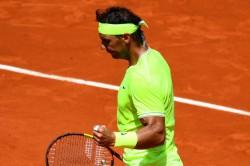 French Open Champion Rafael Nadal Cruises Into Round Three At Roland Garros
