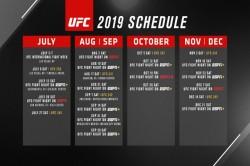 Ufc Announce Q3 And Q4 2019 Event Dates