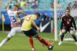 Gustavo Cuellar Strike Seals Win For Colombia Fringe Stars Copa America Paraguay