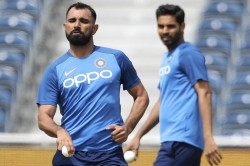 World Cup India Training Dhoni Perfects Sweep Shot Bhuvi Bowls Full Tilt As Chief Selector Keeps