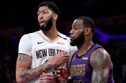 Lebron James Welcomes Anthony Davis 23 Shirt Los Angeles Lakers