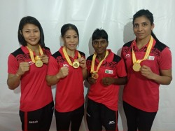 Boxing Indian Boxers Grab Five Gold Medals At Indonesia President S Cup