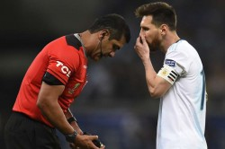 Messi Refereeing Argentina Copa America Loss