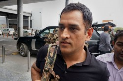 Ms Dhoni Arrives Srinagar To Join Indian Army Battalion In Jammu And Kashmir