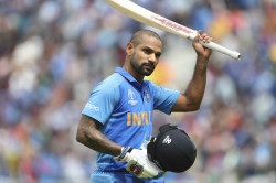 Dhawan Picks Up Bat For First Time For Bottle Cap Challenge Post Injury In World Cup