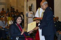 National Sports Awards Deepa Malik Basks In Khel Ratna Glory Bajrang Misses Ceremony
