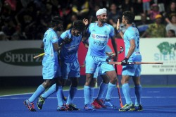 Indian Men And Womens Hockey Teams Leave For Olympic Test Event