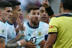 Lionel Messi Three Month Argentina Ban Accusing Conmebol Corruption Copa America
