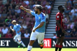 Bournemouth 1 3 Manchester City Aguero Reaches 400 Career Goals As Champions Go Second