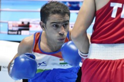 Aiba Men S World Championships Amit Panghal Dominates Opening Bout To Enter Round Of