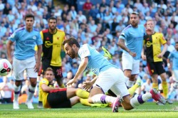 Manchester City 8 0 Watford Bernardo Silva Hits Hat Trick In Record Rout