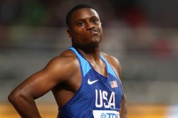 World Athletics Championships Christian Coleman Sends Early 100m Message