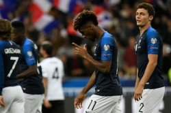 France Albania Euro 2020 Qualifier Antoine Griezmann Penalty Miss Kingsley Coman Scores Twice