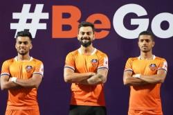 Virat Kohli Unveils Fc Goa S New Home Jersey