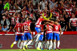 La Liga Granada Upset Barcelona To Reach Top Of Table