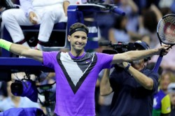 Us Open 2019 Roger Federer Hurt Mammoth Hold Grigor Dimitrov