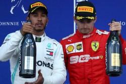 Lewis Hamilton Charles Leclerc Belgian Gp Vettel F