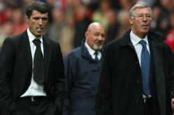 Roy Keane Alex Ferguson Pope Manchester United
