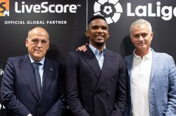 Jose Mourinho And Samuel Eto O Launch Livescore