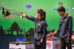 Issf World Cup Manu Saurabh Win Gold Unprecedented Finish For India
