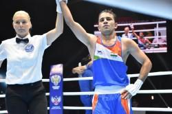 World Boxing Championships Amit Panghal Creates History Enters Finals Manish Kaushik Wins Bronze