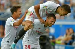 La Liga Wrap Jordan Free Kick Fires Sevilla To Top Osasuna Unbeaten