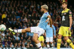 Manchester City Southampton Efl Cup Sergio Aguero At The Double