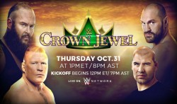 Major Spoilers For 2019 Wwe Crown Jewel Marquee Matches
