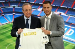Eden Hazard Thibaut Courtois Florentino Perez Talks Real Madrid