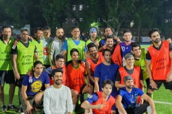 Ms Dhoni Plays Charity Football Match With Tennis Legend Leander Paes And Bollywood Actors Mumbai