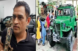 Ms Dhoni Spotted Driving Nissan Jonga On Ranchi Roads Shows His Love For Indian Army