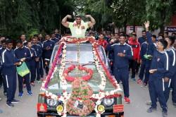 Anuj Kumar Taliyan Gets Rousing Reception After Winning Gold Medal World Bodybuilding Championship
