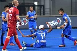 Olympic Qualifiers Manpreet Strikes A Brace India Men Edge Past Russia 4