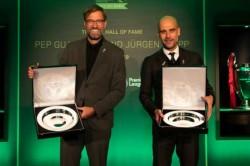 Pep Guardiola Manchester City Jurgen Klopp Liverpool Lma Hall Of Fame