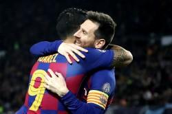 Barcelona 3 1 Borussia Dortmund Qualification Suarez Messi Griezmann