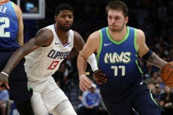 Nba Clippers Beat Mavericks Paul George Hails Scary Defense Luka Doncic Stifled