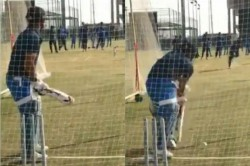 Ms Dhoni Preparing For India Return As Video Of His Net Practice Goes Viral