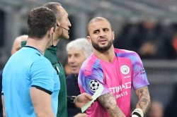 Man City Champions League Kyle Walker Plays In Goal Against Atalanta