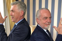 Napoli De Laurentiis Ancelotti Gattuso Allegri